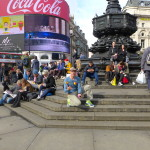 Juggling in Piccadilly Circus @Talk2MorePeople